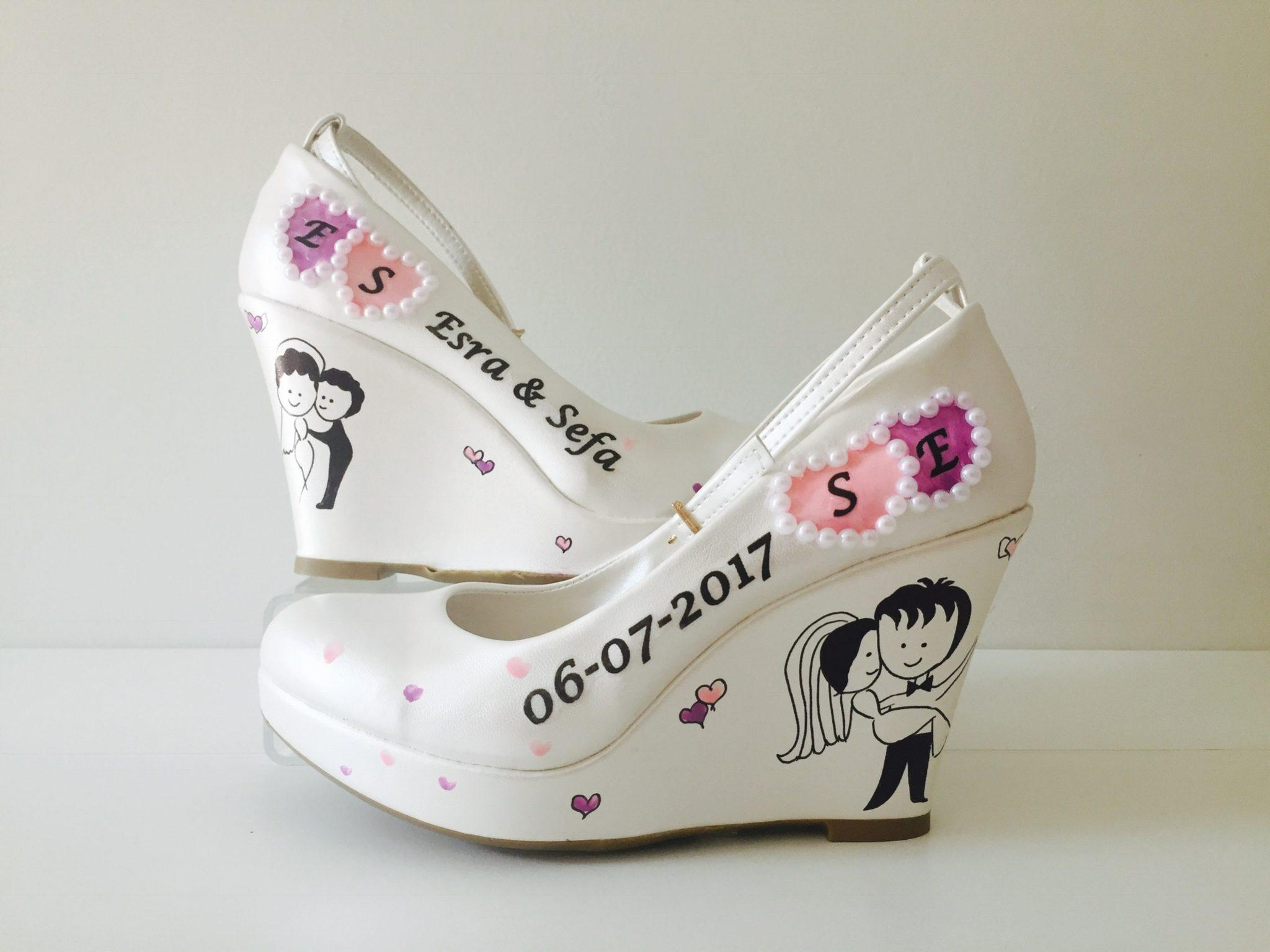 2018 Gelinlik Ayakkabı Modelleri 3