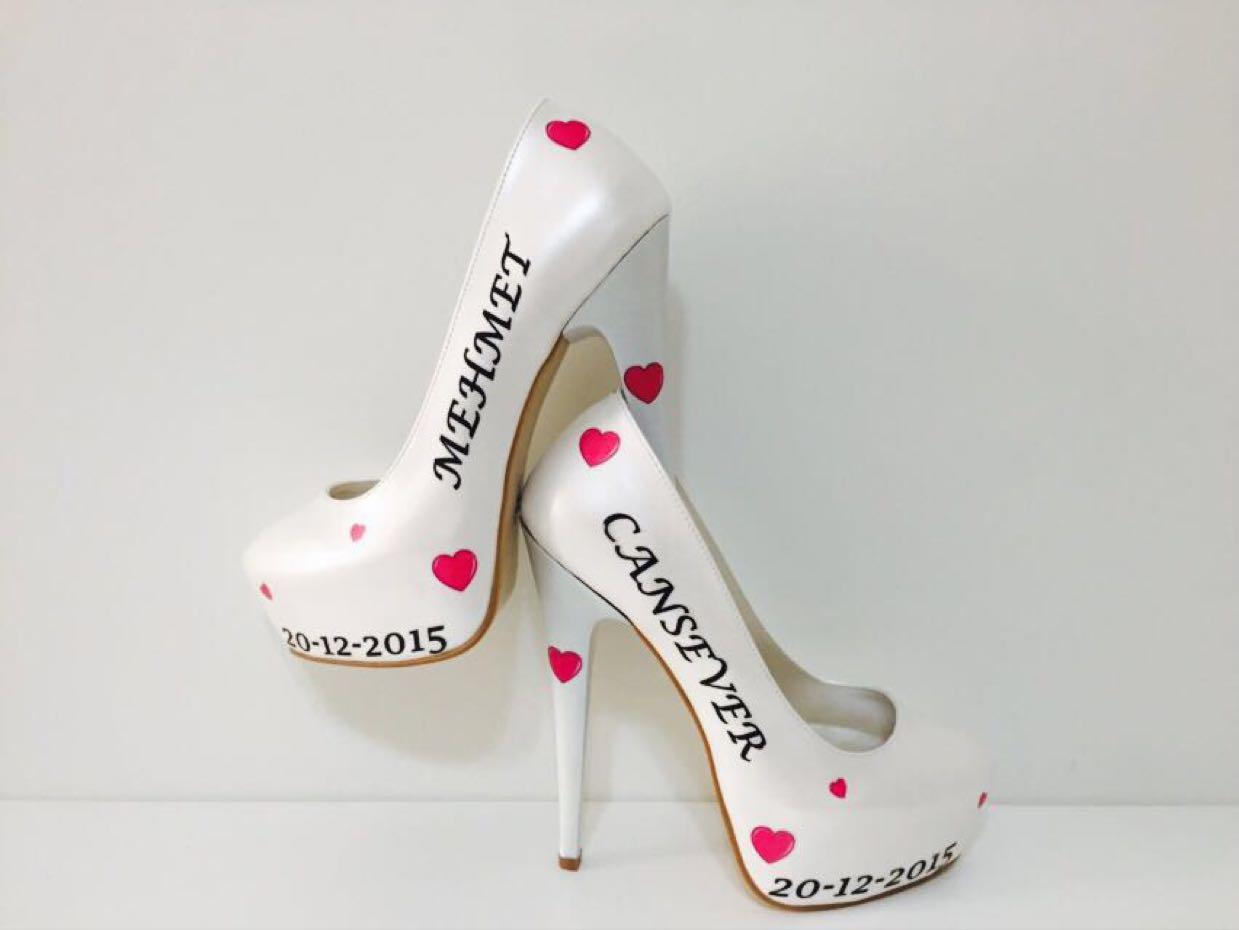 2018 Gelinlik Ayakkabı Modelleri 8