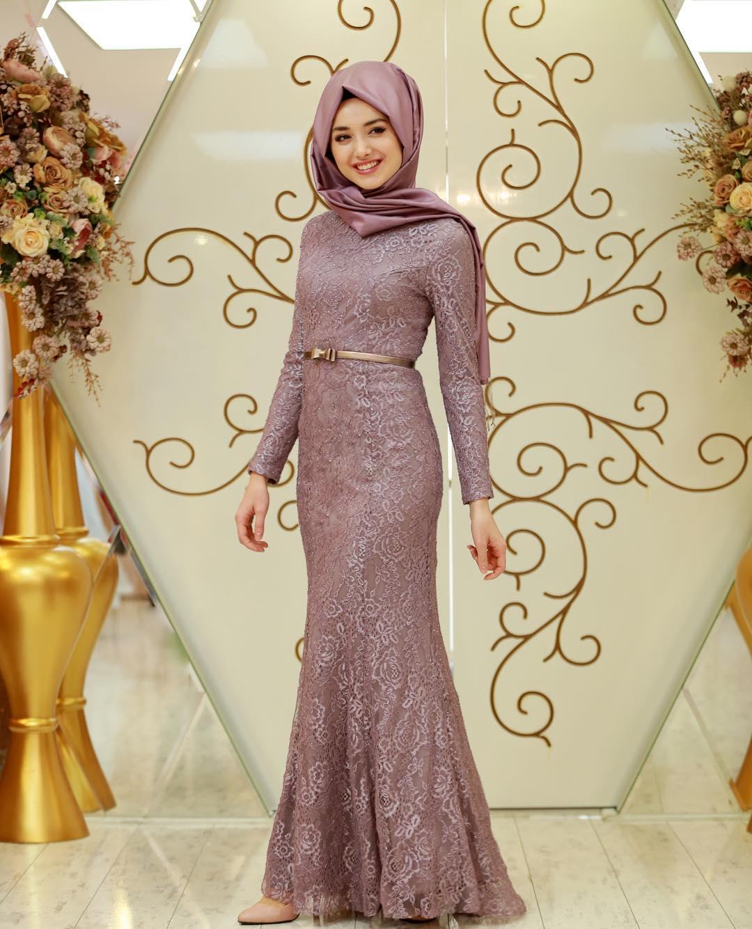 2018 Tesettür Abiye Elbise Modelleri 1