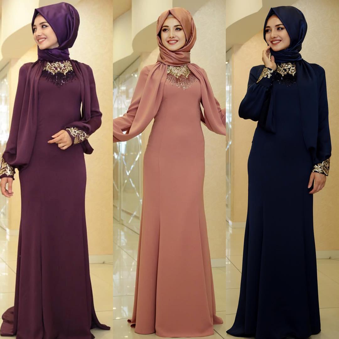 2018 Tesettür Abiye Elbise Modelleri 2