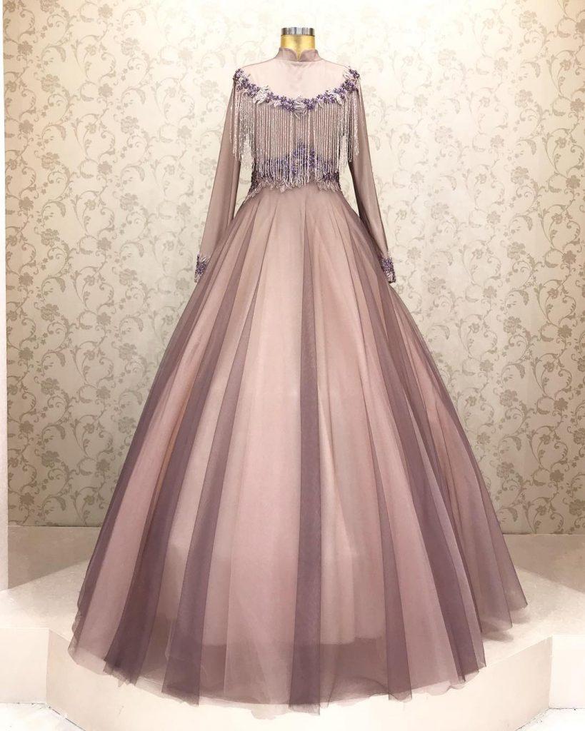2018 Tesettür Abiye Elbise Modelleri 3