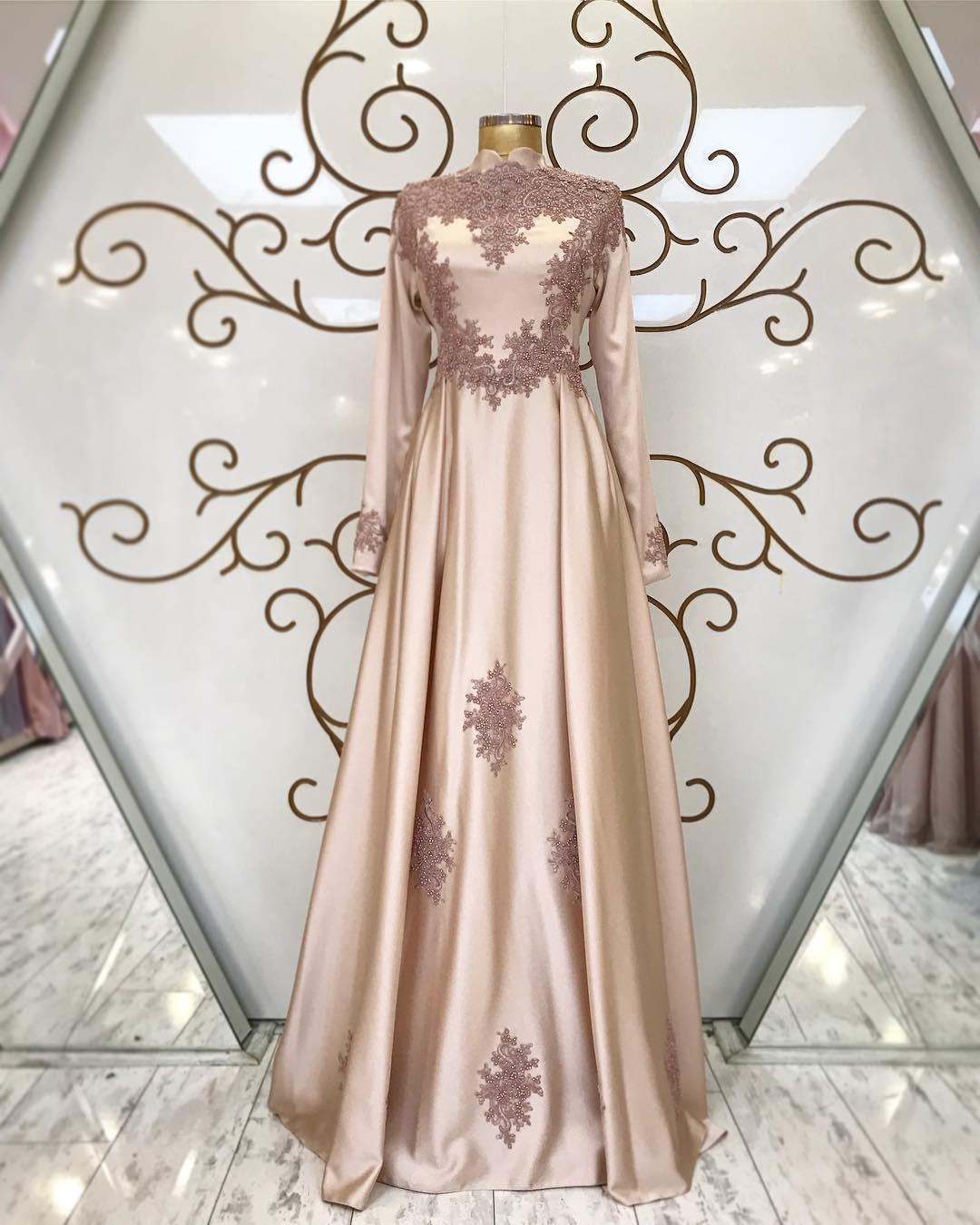 2018 Tesettür Abiye Elbise Modelleri 6