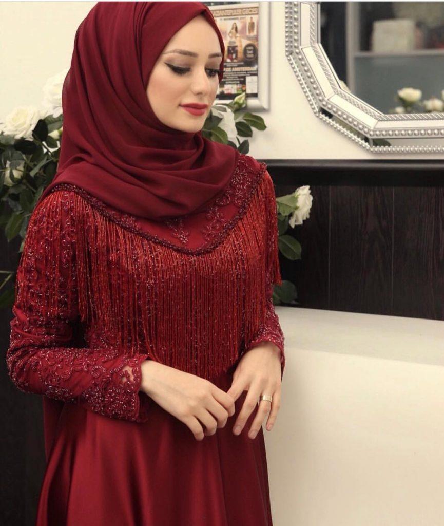 2018 Tesettür Abiye Elbise Modelleri 865x1024 - 2018 En Güzel Tesettür Abiye Elbiseleri