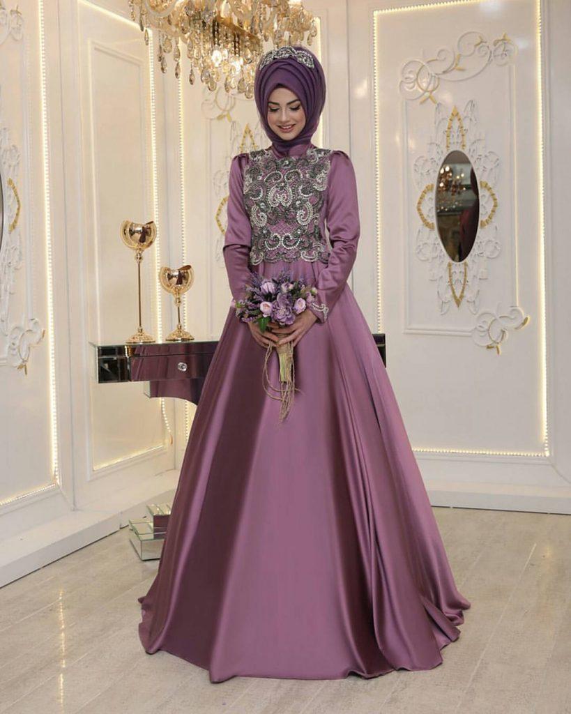 Pinarsems Abiye Modelleri 10 819x1024 - 2018 En Güzel Tesettür Abiye Elbiseleri