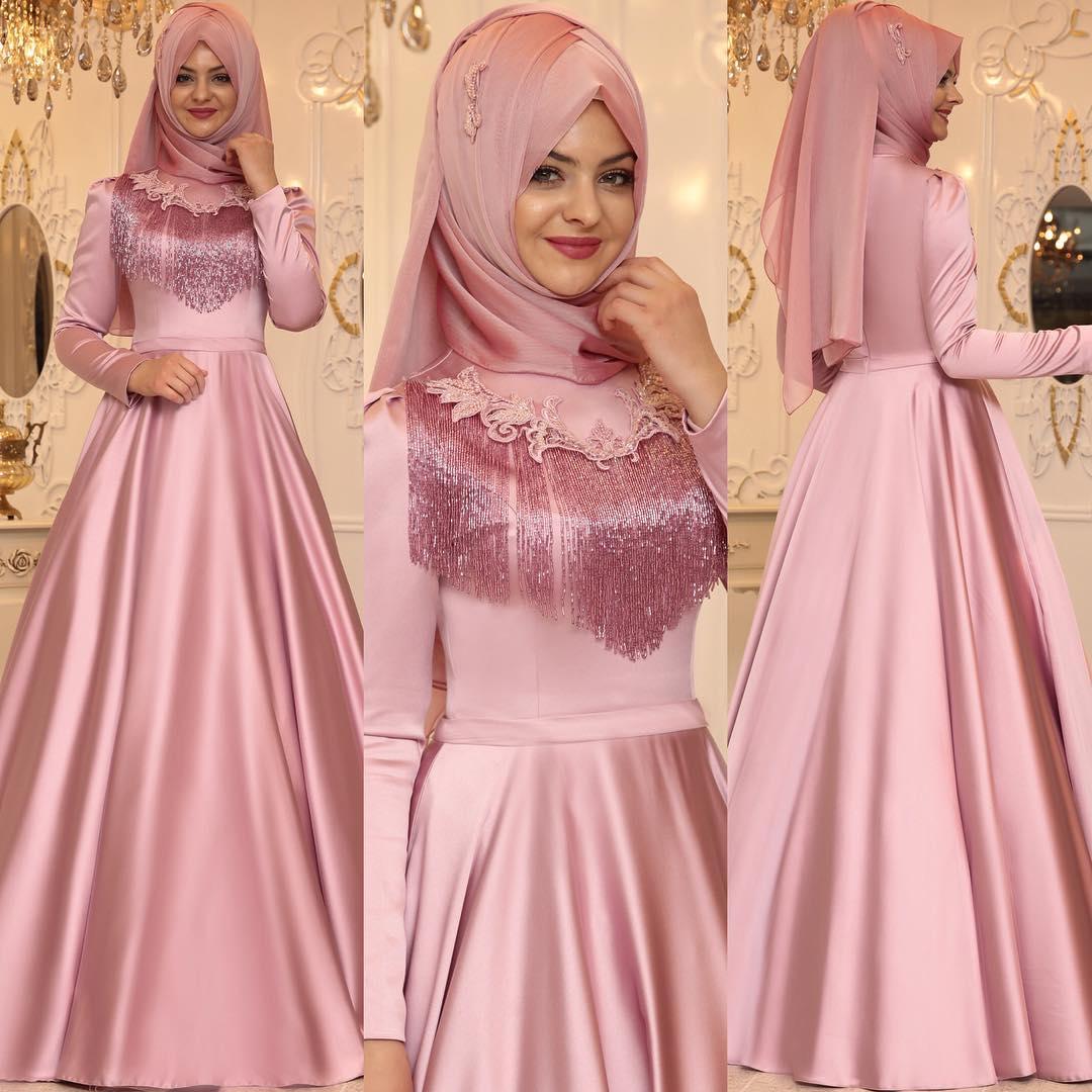 Tesettür Abiye  - En Şık Pınar Şems Tesettür Abiye Elbise Modelleri