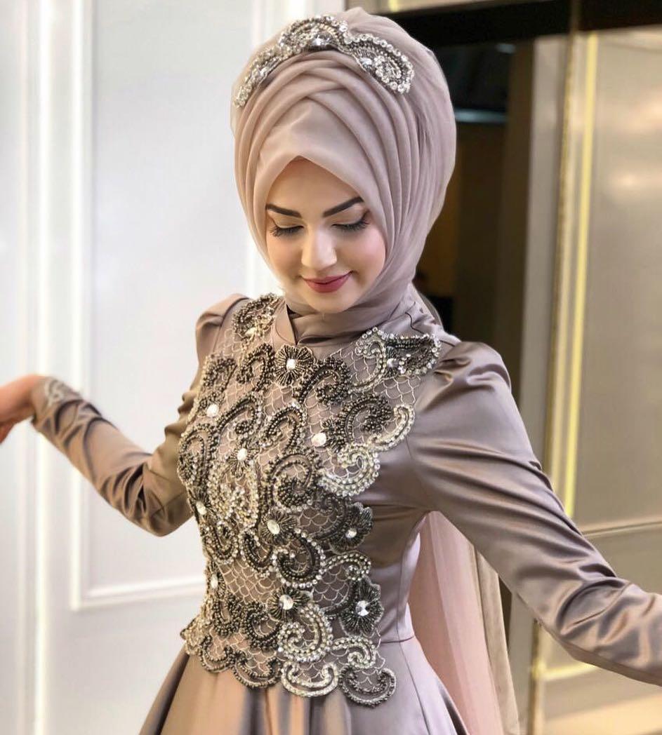 Tesettür Abiye 1 - 2018 Pınar Şems Abiye Modelleri