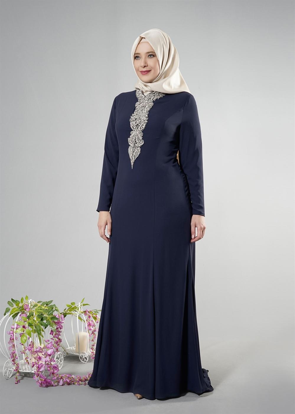 Büyük Beden Tesettür Nişan Elbise Modelleri