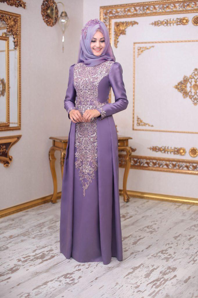 2018 An Nahar Tesettur Abiye Elbise Modelleri 3 682x1024 - 2018 En Güzel Tesettür Abiye Elbiseleri