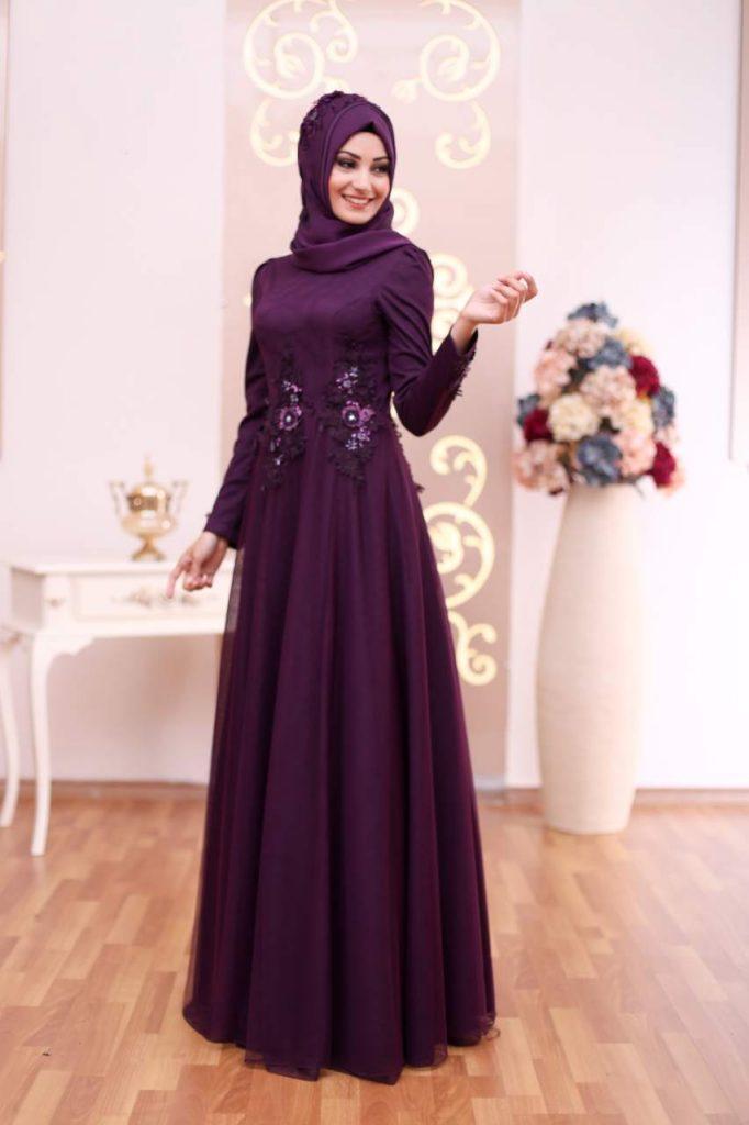2018 An Nahar Tesettur Abiye Elbise Modelleri 4 682x1024 - 2018 En Güzel Tesettür Abiye Elbiseleri