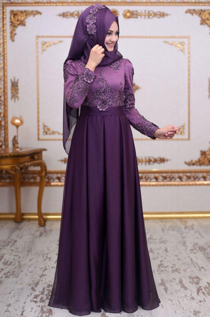 2018 An Nahar Tesettur Abiye Elbise Modelleri 7 680x1024 - 2018 En Güzel Tesettür Abiye Elbiseleri