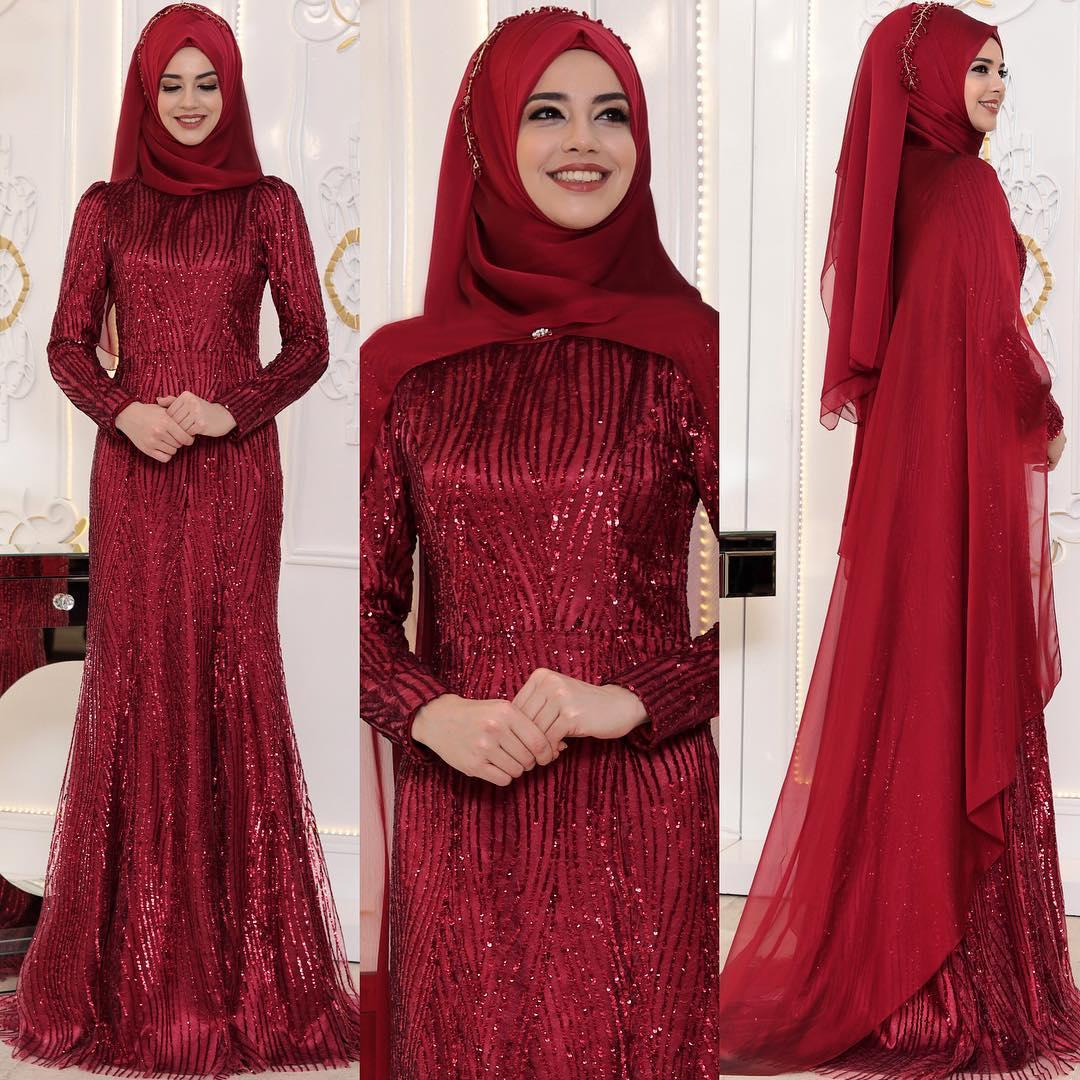 2018 En Sık Pınar Sems Tesettur Abiye Elbise Modelleri 4