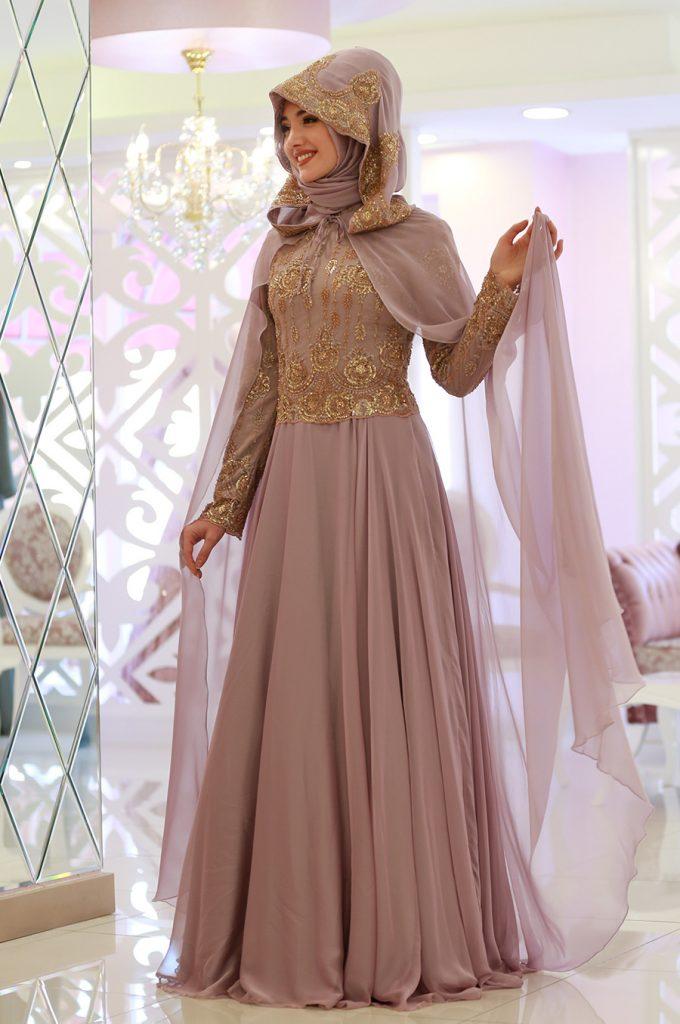 2018 Ganze Ozkul Tesettur Abiye Elbise Modelleri Ahra Lila 680x1024 - 2018 Gamze Özkul Abiye Elbise Modelleri