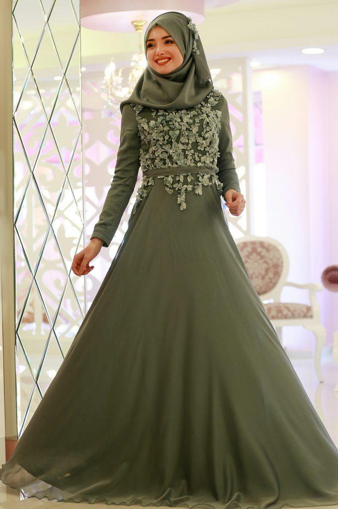 2018 Ganze Ozkul Tesettur Abiye Elbise Modelleri Ayla Sifon 680x1024 - 2018 Gamze Özkul Abiye Elbise Modelleri