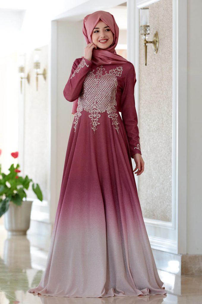 2018 Ganze Ozkul Tesettur Abiye Elbise Modelleri Gozde Nar 680x1024 - 2018 Gamze Özkul Abiye Elbise Modelleri