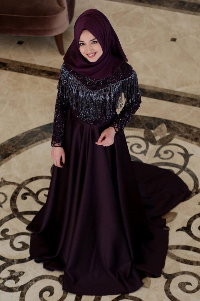 2018 Ganze Ozkul Tesettur Abiye Elbise Modelleri Mira Mor 680x1024 - 2018 Gamze Özkul Abiye Elbise Modelleri