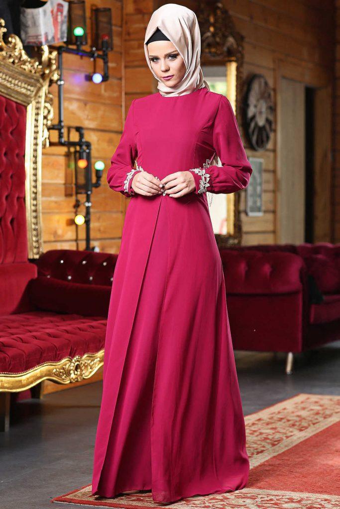 2018 Patirti.Com Tesettur Abiye Modelleri 5 683x1024 - 2018 En Güzel Tesettür Abiye Elbiseleri