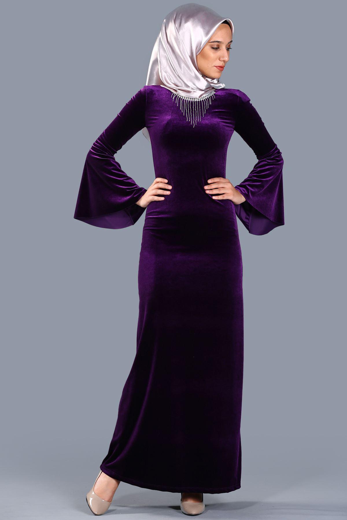 2018 Patirti.Com Tesettur Abiye Modelleri 7 - 2018 Sedanur Tesettür Abiye Elbise Modelleri