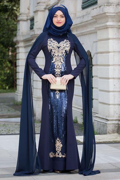 2018 Sedanur Tesettur Abiye Elbise Modelleri - 2018 En Güzel Tesettür Abiye Elbiseleri