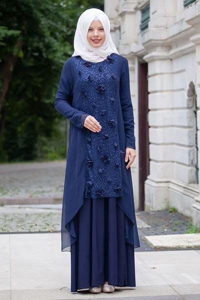 2018 Sedanur.com Tesettur Abiye Elbise Modelleri - 2018 En Güzel Tesettür Abiye Elbiseleri
