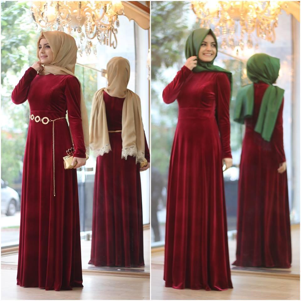 2018 Tesettur Kadife Abiye Elbise Modelleri 5 - 2018 En Güzel Tesettür Abiye Elbiseleri