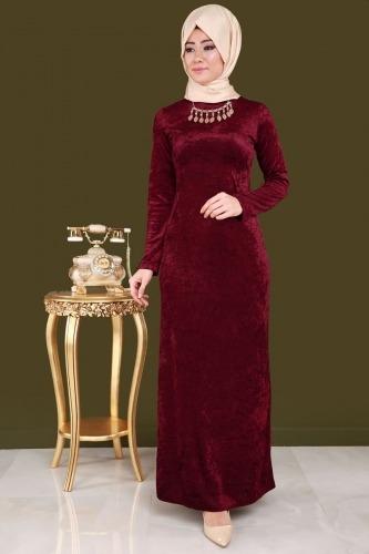 ec9d5261bb16c ... 2018 Tesettur Kadife Abiye Elbise Modelleri 7 - 2018 Tesettür Kadife  Abiye Elbise Modelleri
