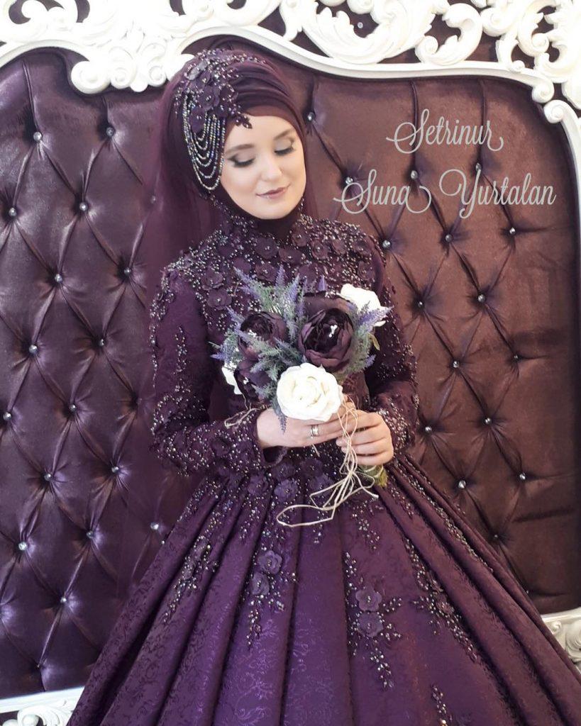 2018 Tesettur Nisanlik Modelleri 10 819x1024 - 2018 En Güzel Tesettür Abiye Elbiseleri