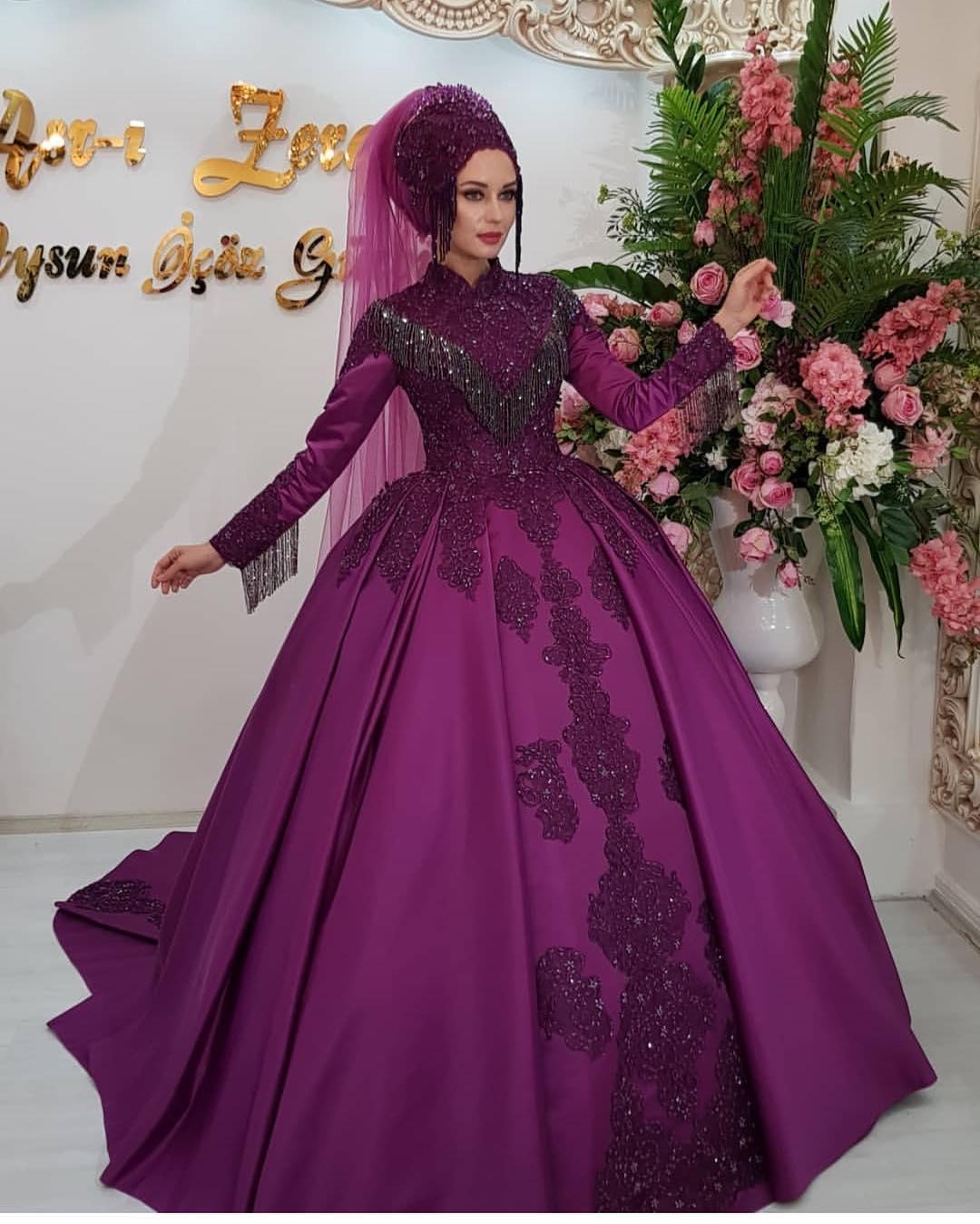 Tesettür Kabarık Nişanlık Modelleri 2019