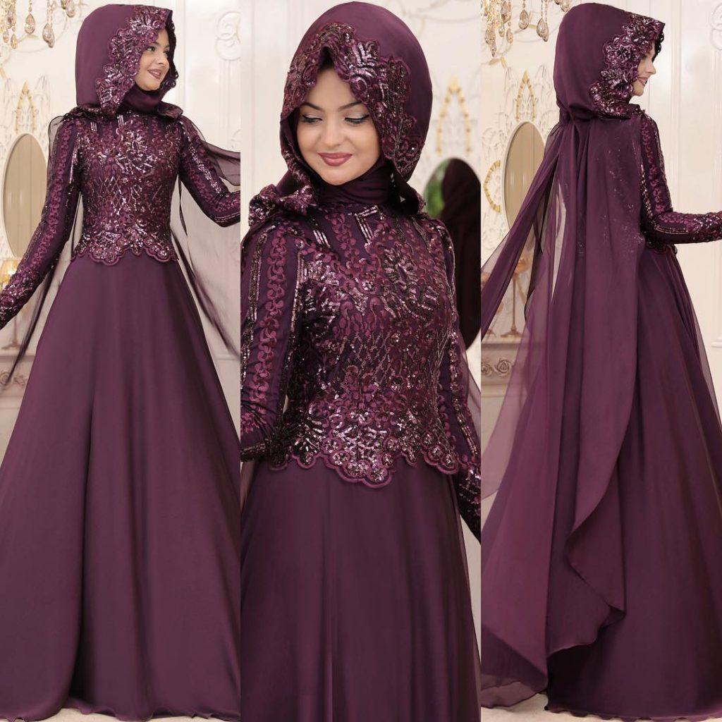 2018 Tesettur Pelerinli Abiye Elbise Modelleri 1 1024x1024 - 2018 En Güzel Tesettür Abiye Elbiseleri