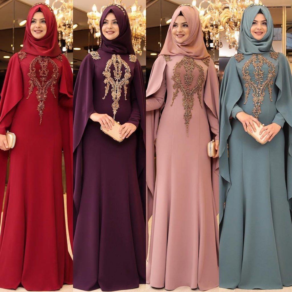 2018 Tesettur Pelerinli Abiye Elbise Modelleri 6 1024x1024 - 2018 En Güzel Tesettür Abiye Elbiseleri