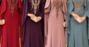 2018 Tesettur Pelerinli Abiye Elbise Modelleri 6