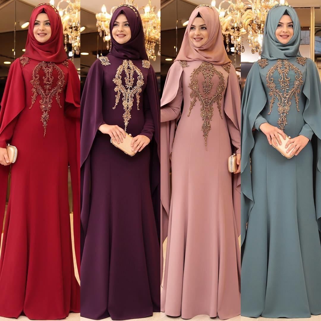 2018 Tesettur Pelerinli Abiye Elbise Modelleri 6 - En Şık Pınar Şems Tesettür Abiye Elbise Modelleri