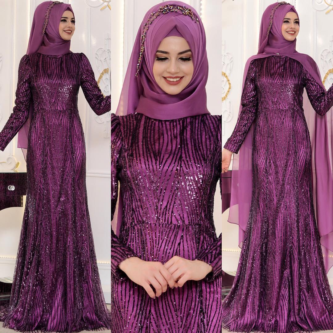 2018 Tesettur Pelerinli Abiye Elbise Modelleri 7 - En Şık Pınar Şems Tesettür Abiye Elbise Modelleri
