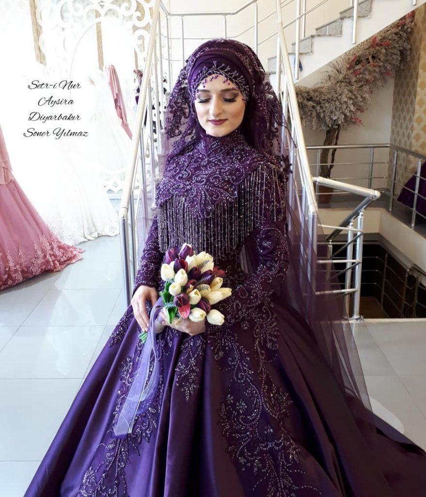 2018 Tesetturlu Nisanlık Elbise Modelleri 4