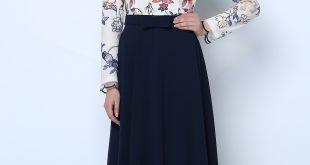 2018 Tozlu Tesettur Abiye Elbise Modelleri Sifon