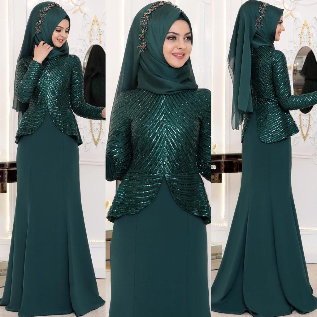 2018 Zumrut Tesettur Nisanlik Modelleri  1024x1024 - 2018 En Güzel Tesettür Abiye Elbiseleri