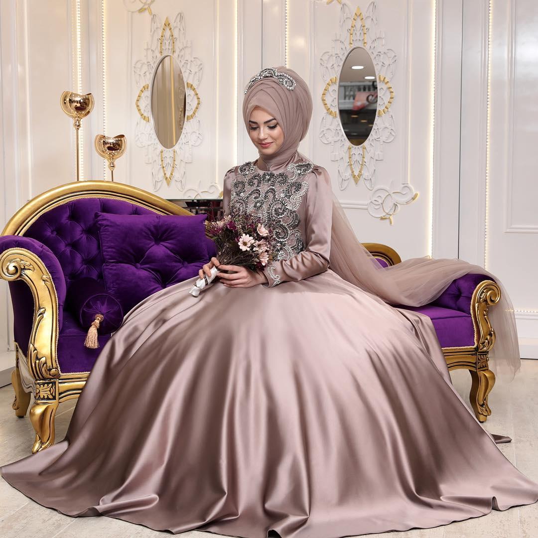 22750f6bdc122 En Ucuz 2018 Abiye Elbise Modelleri - Tesettür Elbiseleri