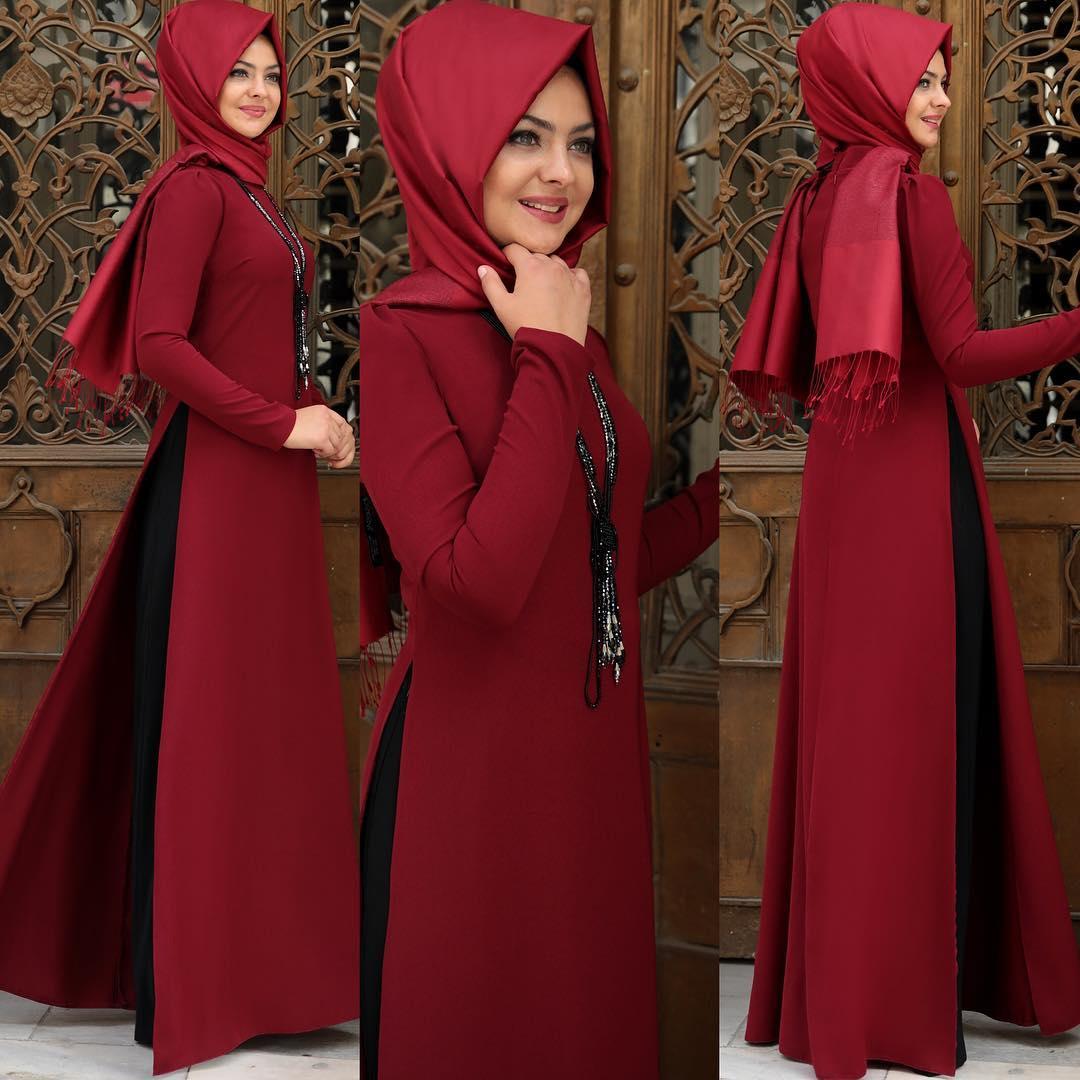 Günlük Kullanıma Uygun Abiye Elbise Modelleri 1 - 2018 Sedanur Tesettür Abiye Elbise Modelleri