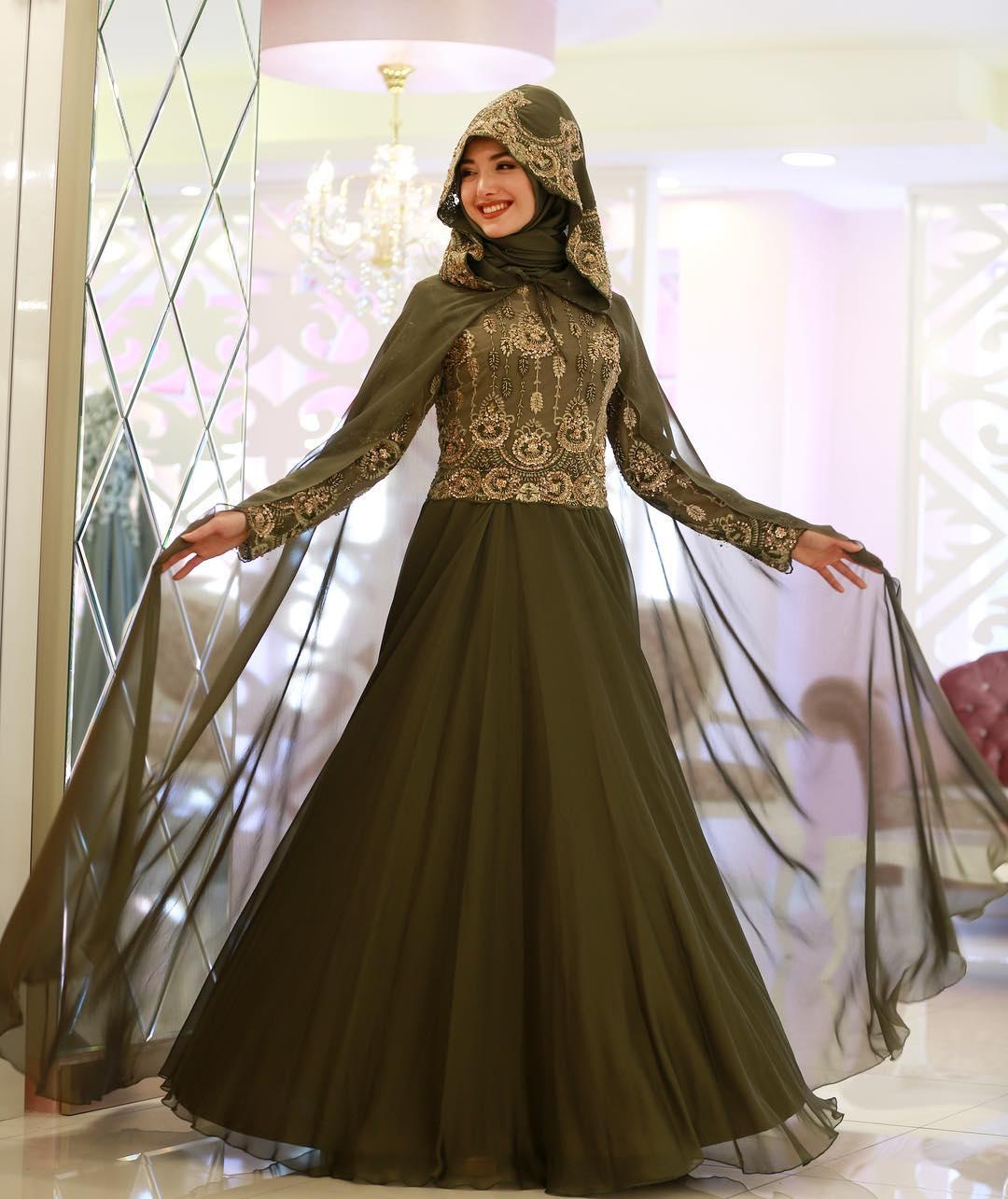 Gamze Ozkul Abiye Modelleri - 2018 En Şık Tesettürlü Abiye Elbise Modelleri