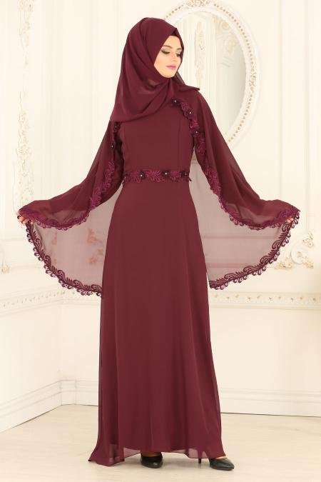 Mezuniyet Elbiseleri ve Fiyatlari pelerinli mürdüm