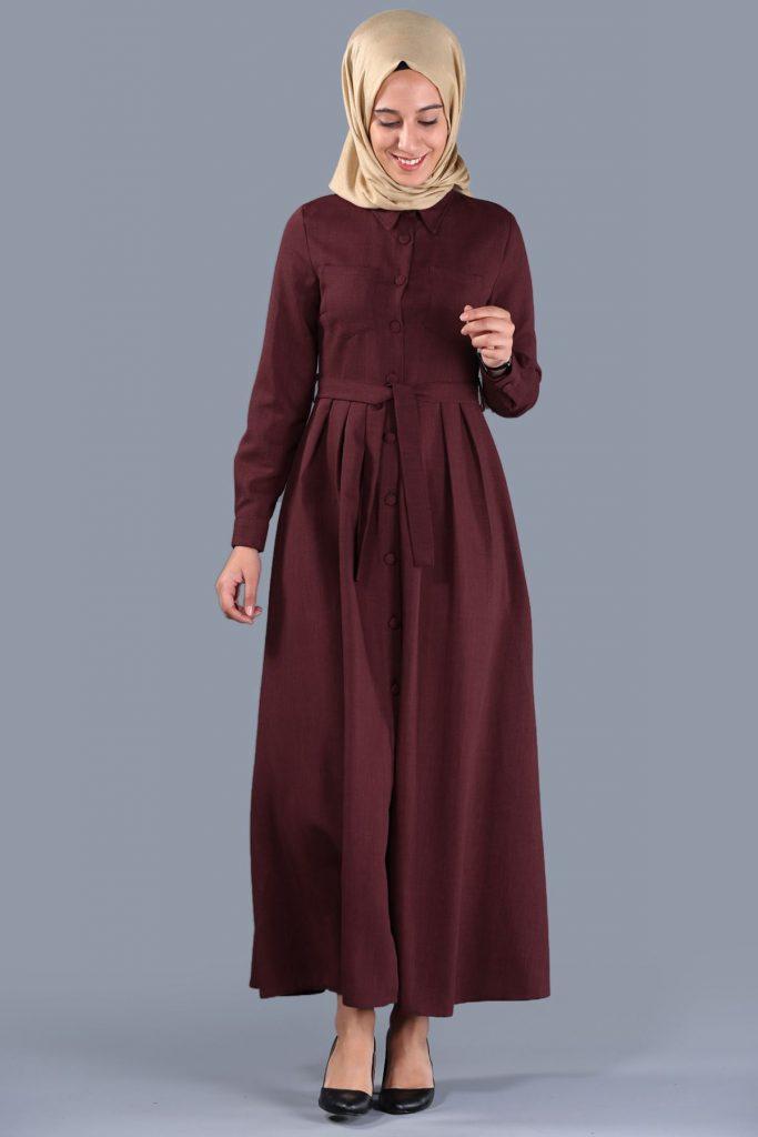 Patirti.com 1 Tl Urunler Bel Baglama Bordo 683x1024 - En Şık Patirti.com Tesettür Abiye Elbise Modelleri