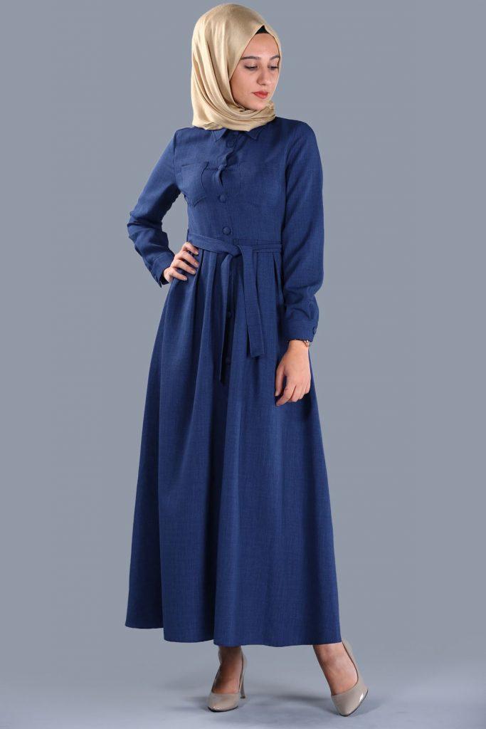 Patirti.com 1 Tl Urunler Bel Baglamali 683x1024 - En Şık Patirti.com Tesettür Abiye Elbise Modelleri