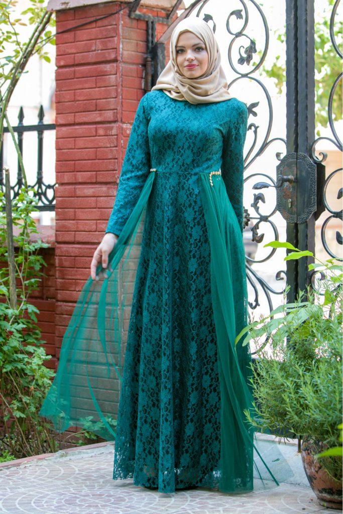 Patirti.com 1 Tl Urunler Kuyrugu Dantelli 683x1024 - En Şık Patirti.com Tesettür Abiye Elbise Modelleri