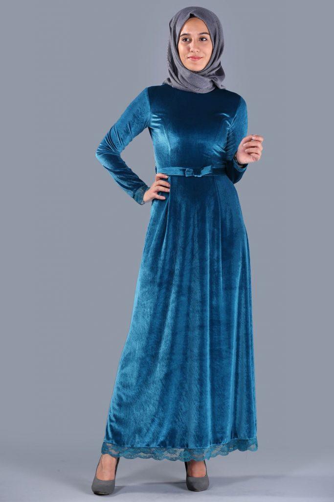 Patirti.com 1 Tl Urunler Sirt Fermuarli 683x1024 - En Şık Patirti.com Tesettür Abiye Elbise Modelleri