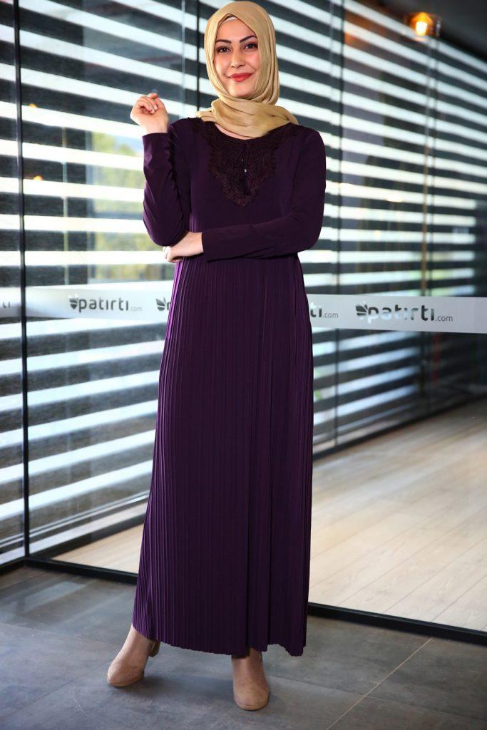 Patirti.com 1 Tl Urunleri Bagcik Detayli 683x1024 - En Şık Patirti.com Tesettür Abiye Elbise Modelleri