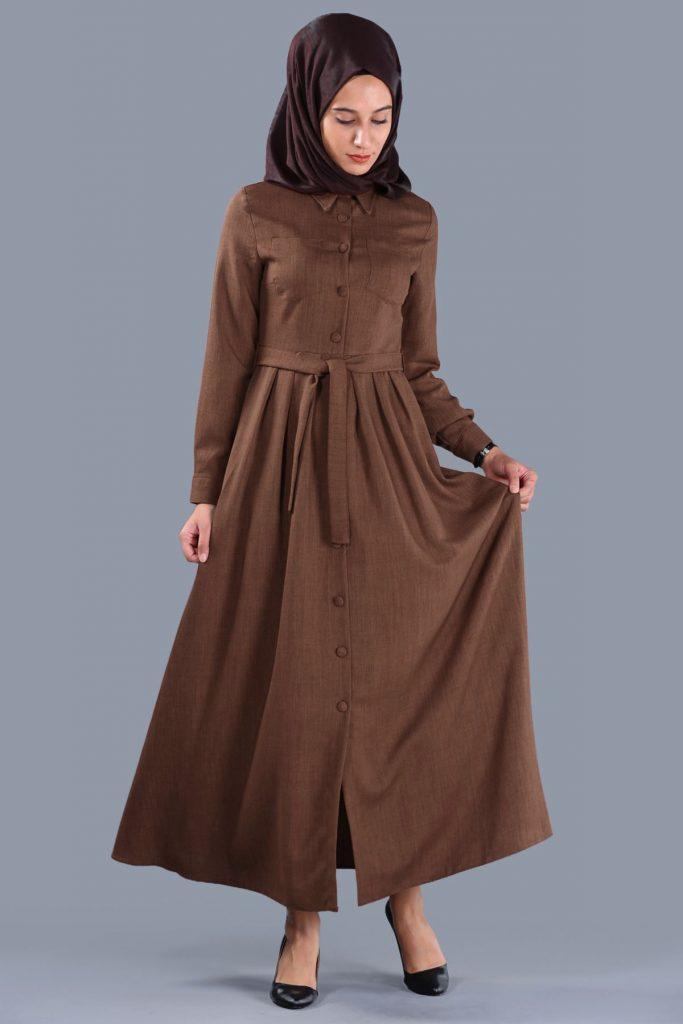 Patirti.com 1 Tl Urunleri Bel baglama taba 683x1024 - En Şık Patirti.com Tesettür Abiye Elbise Modelleri