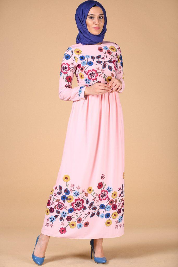 Patirti.com 1 Tl Urunleri Cicekli Abiye 683x1024 - En Şık Patirti.com Tesettür Abiye Elbise Modelleri