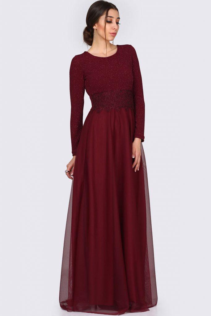 Patirti.com 1 Tl Urunleri Dantelli 683x1024 - En Şık Patirti.com Tesettür Abiye Elbise Modelleri