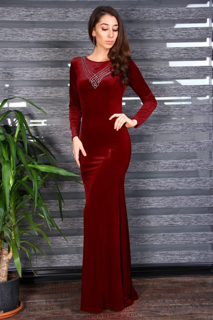 Patirti.com 1 Tl Urunleri Yaka Aksesuarli 683x1024 - En Şık Patirti.com Tesettür Abiye Elbise Modelleri