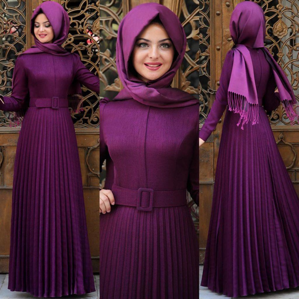 Sade Söz Elbisesi 1 1024x1024 - 2018 En Güzel Tesettür Abiye Elbiseleri
