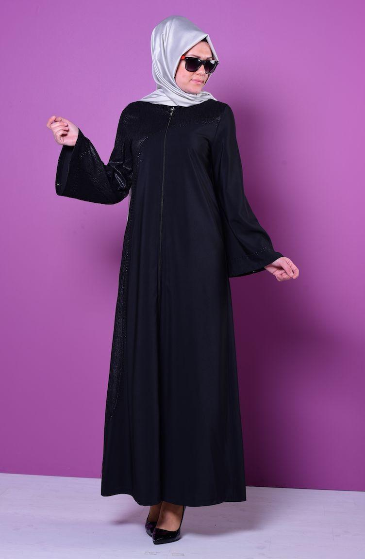 Sefamerve ferace modelleri - 2018 Sefamerve Elbise Modelleri